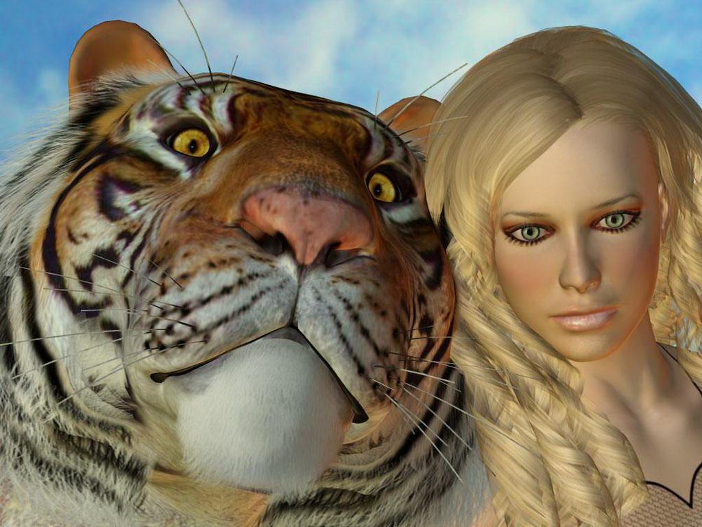 Фото блондинок с котами