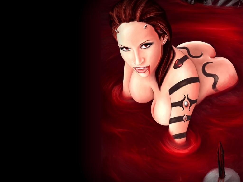 Страшные кровавые голые вампирши фото 18487 фотография
