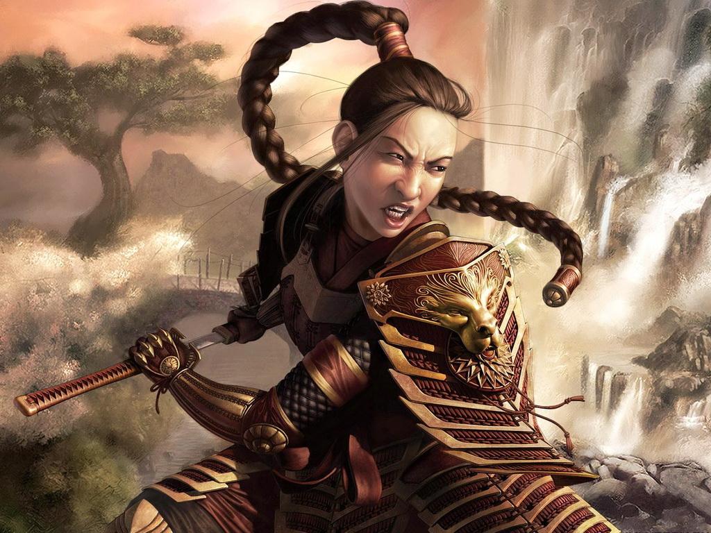 Девушка востока воин