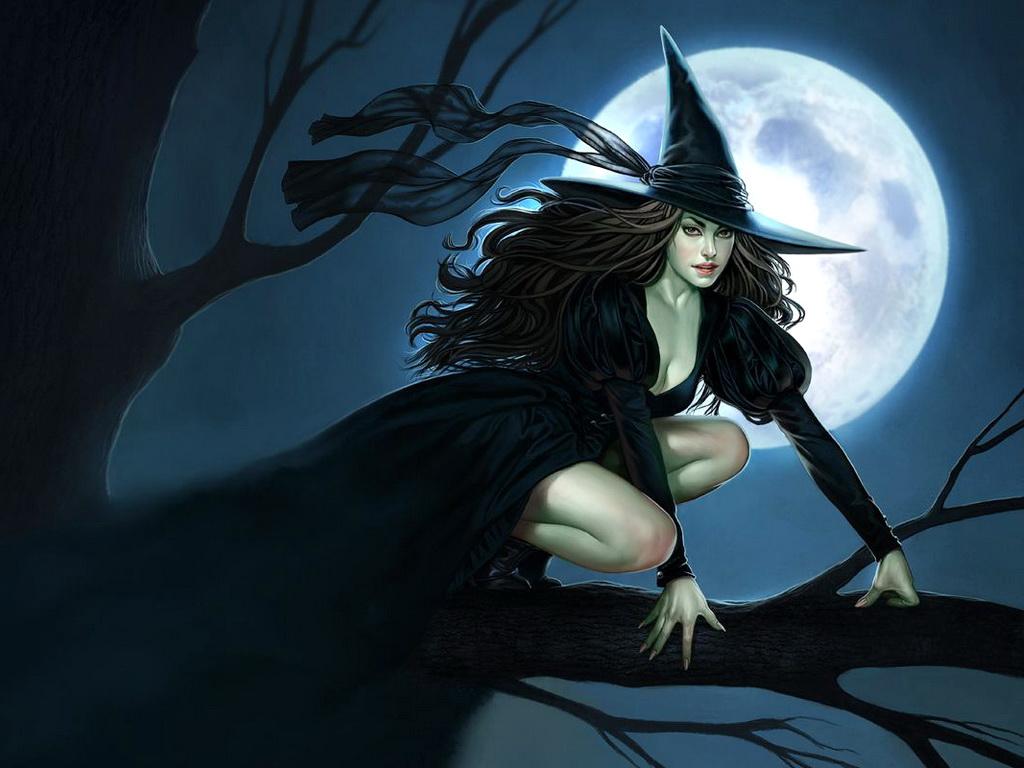 Луна и девушки фэнтези, лунные пейзажи с необычными девушками ...