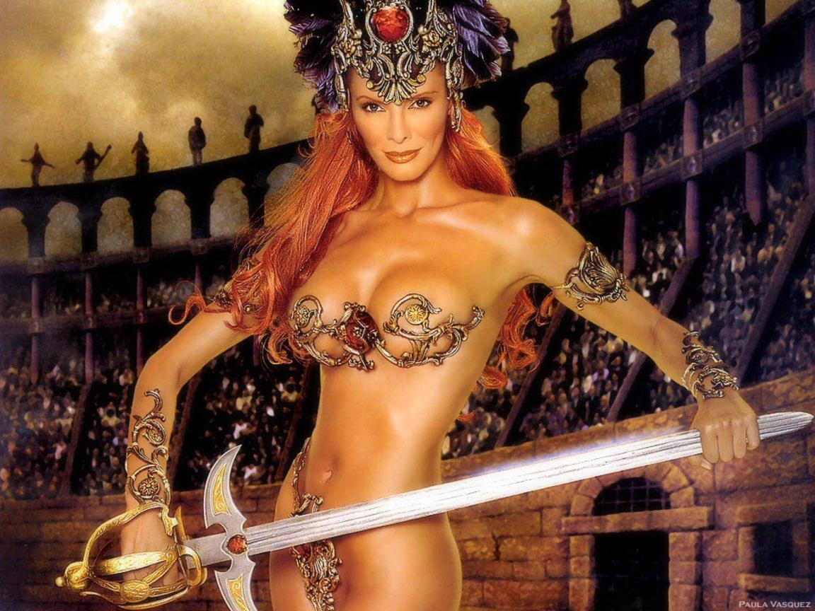 Сексуальные девушка с мечом 17 фотография